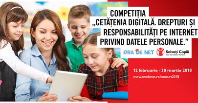 """12.000 de elevi, părinți și profesori au fost informați în cadrul competiţiei """"Cetățenia digitală.  Drepturi și responsabilități pe Internet privind datele personale"""""""