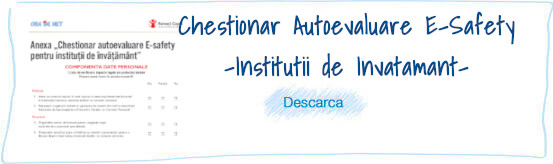 Chestionar Autoevaluare E-Safety
