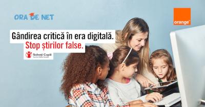 """Ora de Net lansează competiția """"Gândirea critică în era digitală. Stop știrilor false!"""""""
